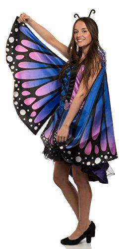 Brandsseller Damen Kostüm Verkleidung für Karneval Fasching Halloween Parties - Schmetterling, ()