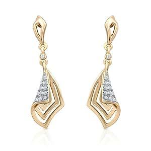 Oviya Gold Plated Glam Crystal Dangle & Drop Earrings For Women Er2191027G
