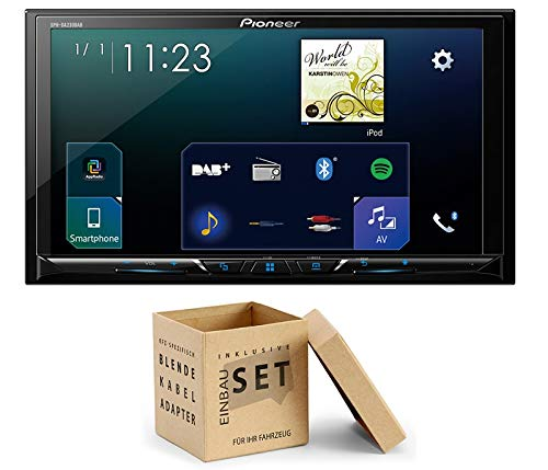 Pioneer Radio SPH-DA230DAB 2DIN Apple CarPlay Waze mit Antenne + Einbauset für Jeep Wrangler (JK) ab 04/2007 Radio Antenne-adapter-jeep