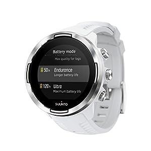 Suunto 9 Baro - Reloj Multideporte GPS, Unisex, Sin cinturón de frecuencia cardíaca, Blanco, 24.5 cm