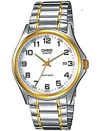Casio Reloj Analógico para Hombre de Cuarzo con Correa en Acero Inoxidable MTP-1188PG-