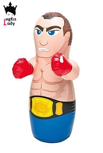 INGLIS LADY PROFESSIONAL 3D BOP Bag Inflatable Hit Me / Punching Bag For Kids - Boxer (Colour And Design May Slightly Vary)