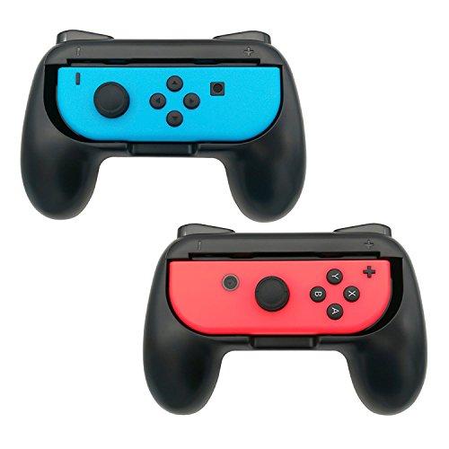 Webat Spiele Controller Joy-con Grip-Kits für Nintendo Switch, 2er-Pack Nintendo-Schalter Grip Handle Handheld Schutzhülle für die Nintendo Switches (Schwarz)