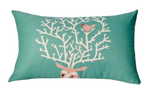 Beautiful Lumbar Pillow Simple Practical Office Rectangle Oreiller, vert