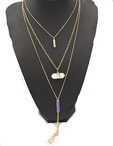 sunifsnow-women-long-paragraph-three-layer-tassel-small-rectangle-cystal-bosnian-necklace