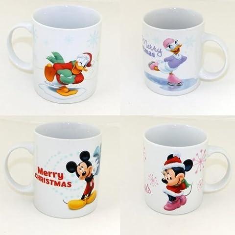 Motifs de noël disney mug donald duck daisy mickey mouse minnie mouse gobelet neuf, 2x Mickey+ 2x Minnie Tasse