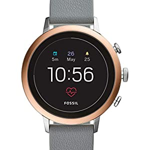 Fossil Damen Digital Smart Watch Armbanduhr mit Silikon Armband FTW6016