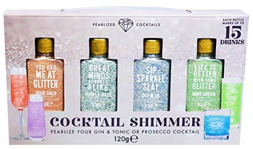 Confezione Regalo Gin e Prosecco Cocktail Brillanti Include 4 Cocktail Aromatici Scintillanti per Far Brillare le Tue Bevande