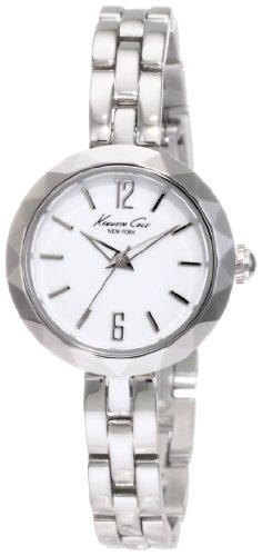 Kenneth Cole Women's Quartz Watch with White Dial Analogue Display and Silver Stainless Steel Bracelet KC4763