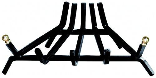 Griglia portalegna in acciaio 5 barre triangolare