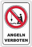 SCHILDER HIMMEL anpassbares Angeln verboten Schild DIN A4 29x21cm Kunststoff, Nr 199 eigener...