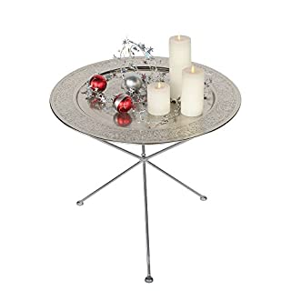 albena shop 73-136 Elim oriental Table ø 60cm (Silver)
