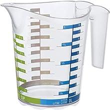 Rotho Tazza di Misura 1l con Scala Graduata, Plastica (PP) Senza BPA, Transparent/Iml Measuring Cup Domino