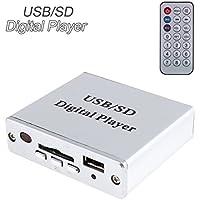 Amplificador de potencia (MP3/SD/USB/reproductor de audio, mando a distancia, teclado con 3 botones)