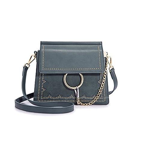 Chaîne Rivet Sac Messenger Bag Sac à bandoulière Messenger Packet Femmes Anneau Ring Chain Bag Décoré Avec