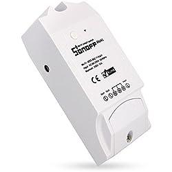 Sonoff Dual Smart Hogar 2 Vías Wifi Smart Switch, Interruptor Temporizador de Control Remoto Inalámbrico Inteligente (para Alexa (Amazon Echo, Echo Dot y Amazon Tap)