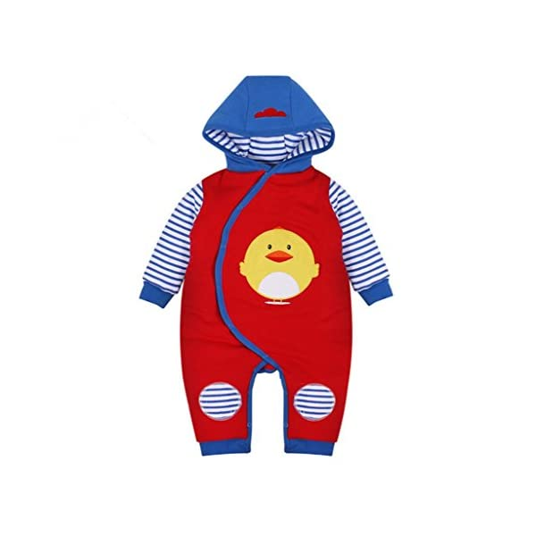 Vine Bebés de los muchachos mameluco Recién nacido Calentar Juego del cuerpo Otoño invierno Infantil Buzos Equipar, 0-3…