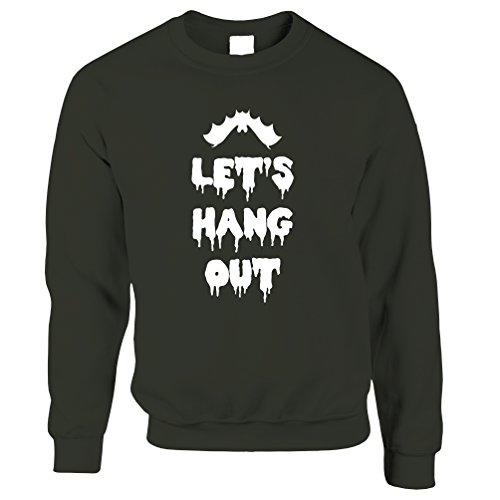 en aus Bitten lustiges Wortspiel Kühlen Witz Halloween Spuk Slogan Unisex-Pullover (Lustige Halloween-wortspiele)