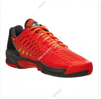 Yonex SHT Power Cushion Eclipsion Mens Tennis Shoes, Color- Red, Size- 8.5 UK