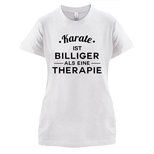 Karate ist billiger als eine Therapie - Damen T-Shirt - 14 Farben Weiß
