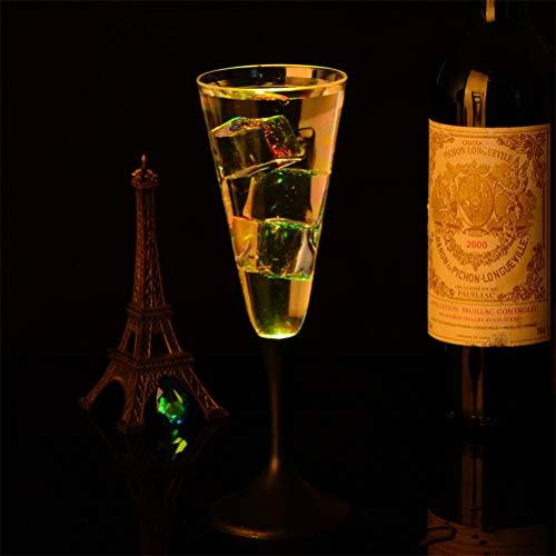 GFYWZ LED Weinbecher Champagnerflöten Leuchtende Gläser LED Liquid Activated Champagner Gläser für Party Night Club Bar Festival 4 Stück B (Champagner Gläser Led)