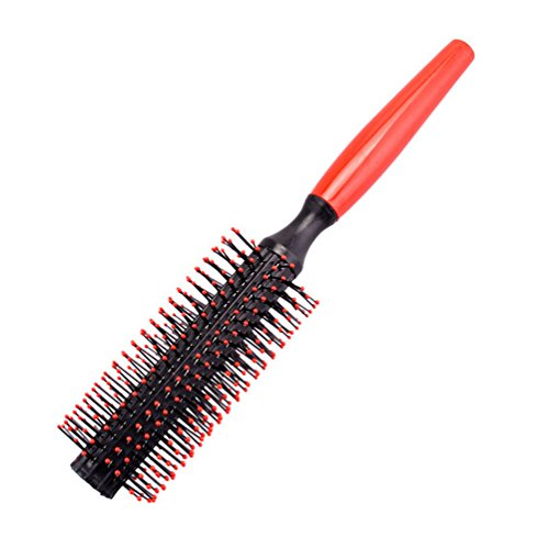 Leisial Brosse à Cheveux Démêlante Indolore Antistatique Peigne d'Airbag Massage en Plastique(Noir)
