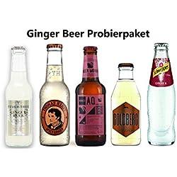 Ginger Beer Tasting Paket - Ginger Bier Probierpaket - Fever-Tree, Aqua Monaco, Schweppes, Thomas Henry, Goldberg