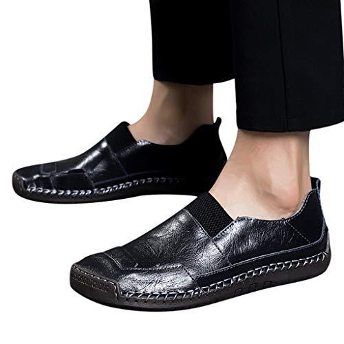 RYTEJFES Freizeitschuhe Herren Leichtgewicht Faule Schuhe Cortex Klassiker Business-Schuhe Elegante Mann Strandschuhe Ultra-Light Bequem Arbeitsschuhe - Frauen, Quadratische Spitze Stiefel Für