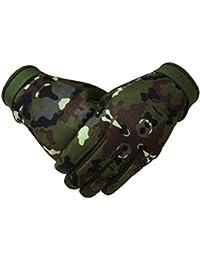 Tactical Mechanic Gloves Hunting, Race, full Finger Glove (Large)
