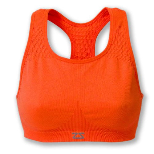 Zensah Seamless Brassière de sport femme, Femme, Seamless Bra orange fluo