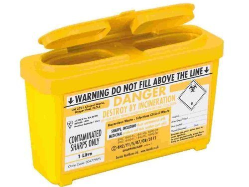 Price comparison product image Sharpsguard Sharps Bin 1 litre Yellow - Pack of 2