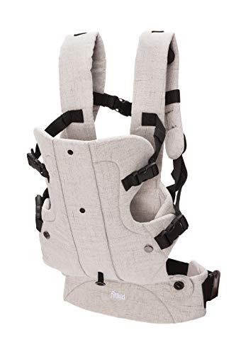 Fillikid Babytrage Kindertrage Vario 4in1   ergonomische Bauchtrage & Rückentrage   4 Tragemöglichkeiten   für Neugeborene & Kleinkinder von 3 bis 24 Monate (3,5-14,5 kg), Design:hellgrau