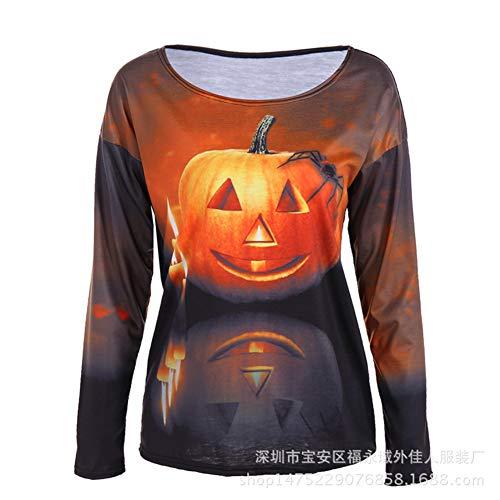 MAIMOMO Frauen Männer Halloween Kürbis Halloween-Kostüme, Halloween-Kostüme, Europäische Und Amerikanische Frauen Langen Ärmeln, Farbe, L (Seasons Four Das Halloween-kostüme)
