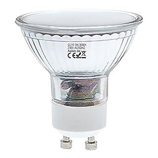 Astek LED Lampe Y12 SMD Leuchtmittel, GU10 Spot 3 Watt, entspricht Glühlampe 25 Watt, Warmweiss 3000K, Abstrahlwinkel 120 Grad Spot, energiesparend, 240 Lumen, Ø50 × 52 mm