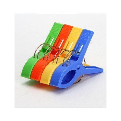 v_esafe 4PCS Mantel Clip Kunststoff Clip Quilt Clip tägliche Wäsche -