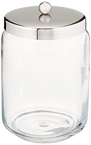 Glas-waschtisch Kommode (InterDesign 22762EU Forma Apothekerglas für den Waschtisch für Wattebäusche, Wattestäbchen, Wattepads - Durchsichtig/poliert, Glas, Clear/Polished SS, 8,89 x 0,254 x 13,97 cm)
