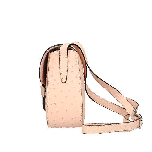 Chicca Borse Borsa a tracolla in pelle 25x20x9 100% Genuine Leather Rosa