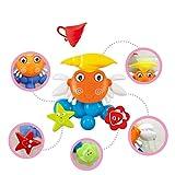 Baby Badespielzeug Schwimmbad Spielzeug Wasserspaß Dusche Spielzeug für Kinder Großes Krabbenwasserspray Windmühlenspielzeug