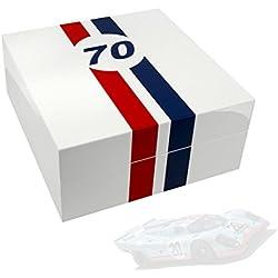 Uhrenbox LeMans 70 für 4 Uhren piano-white