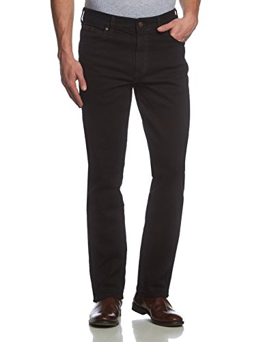 Wrangler Herren Texas Regular Fit Stretch Jeans, Schwarz, 35W x 30L -