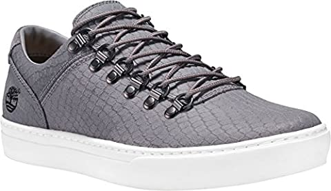 Timberland CA1GRU Mens Gray Leather Sneakers, 7.5