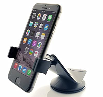 Car Mount, Arteck Universal Mobile Phone Car Mount Holder 360¡ã Rotation for Auto Windshield and Dash, Universal for Cell Phones Apple iPhone 6s Plus 5s 5c, Samsung Galaxy S7 Edge, S6 S5 Note 5/4 GPS and All Other Smartphone Black