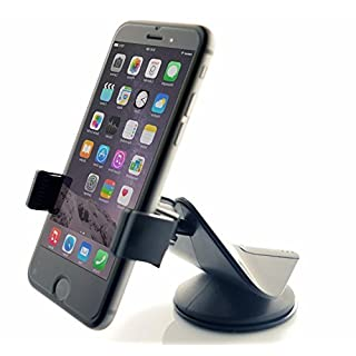 Car Mount, Arteck Universal Mobile Phone Car Mount Holder 360° Rotation for Auto Windshield and Dash, Universal for Cell Phones Apple iPhone Xs, Xs Max, 8 Plus, Android Smartphone, GPS and Other Black