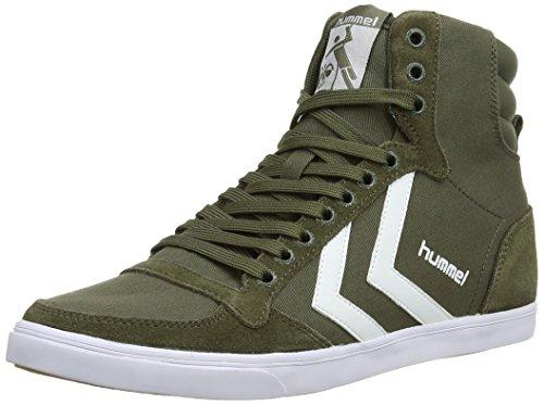 Hummel - SL Stadil Canvas H, Alte scarpe da ginnastica, unisex, verde (ivy green), 36 EU (3.5 UK)