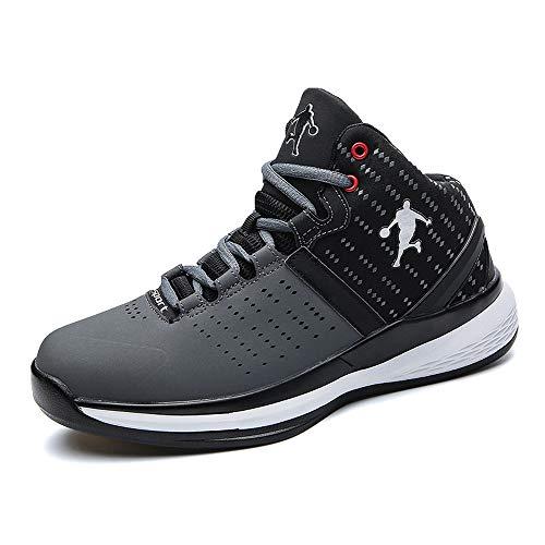 Willsky Herren-Basketball-Schuhe, Performance-Dämpfung-Basketball-Stiefel Leichte Trainings-Turnschuhe,Gray,45