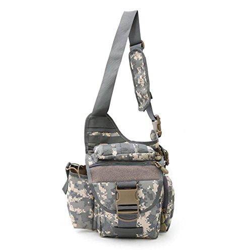 FFZH Sacchetto esterno della macchina fotografica impermeabile borsa di tela multifunzionale tattico tracolla messenger camuffamento tasche di camouflage digitale , A D