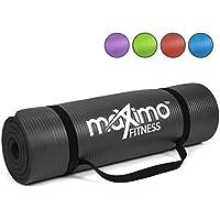 Maximo Fitness Colchoneta de Ejercicios - 183cm de Longitud x 60cm de Ancho x 1,2cm de Grosor. (Black)