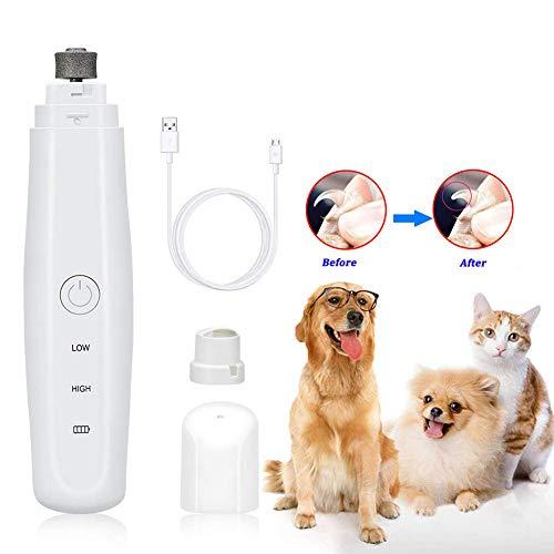 LAK Krallenschleifer Für Hunde, Haustiere Schleifer, Elektrische Krallenpflege Für Kleintiere,Wiederaufladbare Nageltrimmer Für Hund Und Katze, Geräuscharm, USB-Anschluss