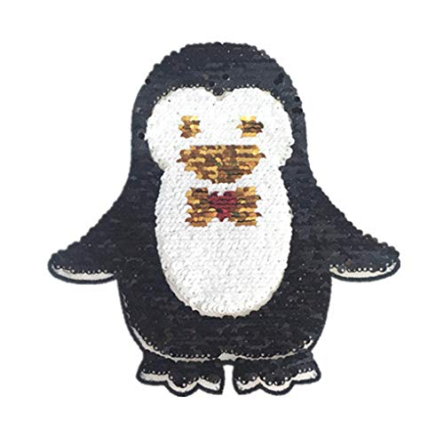 Fangfeen Penguin Bild Pailletten Applikation Kinder Tierkostüm Patches Damen Herren Doppelseiten Kleidung Paste