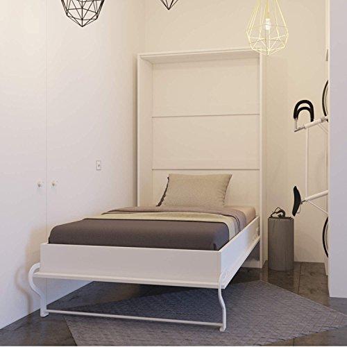Smartbett Wandklappbett Schrankbett Wall bed 120 x200 Vertikal Weiß
